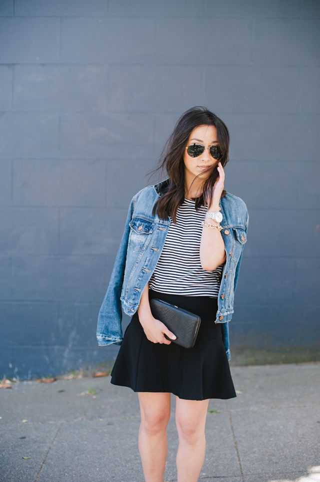 Striped-shirt6 6 Stylish Fall Outfits for School