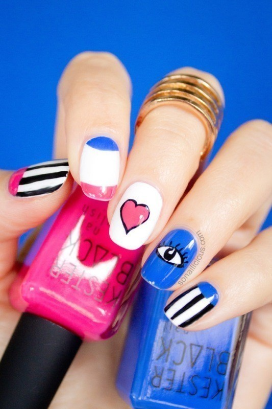 Valentines-Day-Nails-2017-10 50+ Lovely Valentine's Day Nail Art Ideas 2020