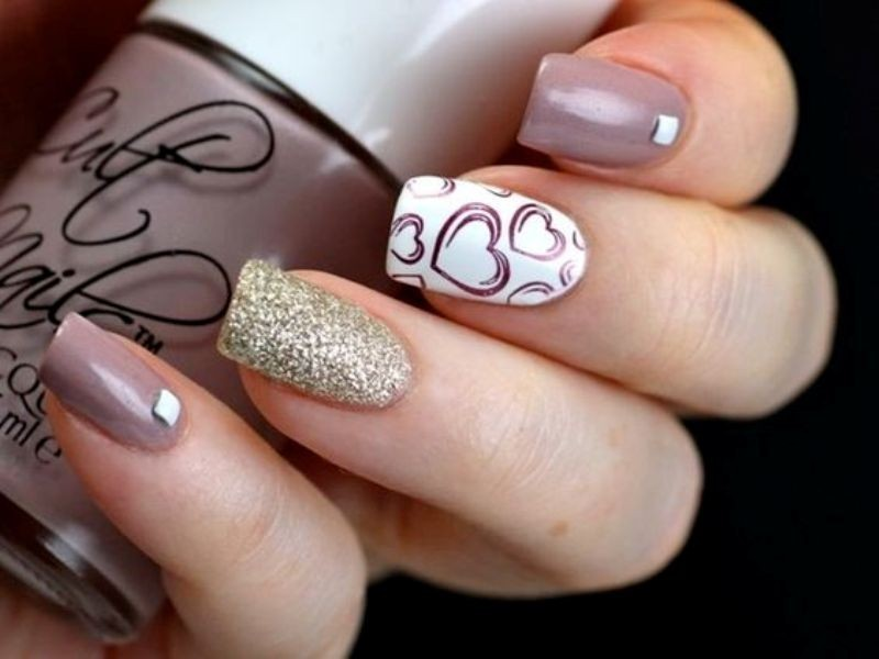 Valentines-Day-Nails-2017-102 50+ Lovely Valentine's Day Nail Art Ideas 2020