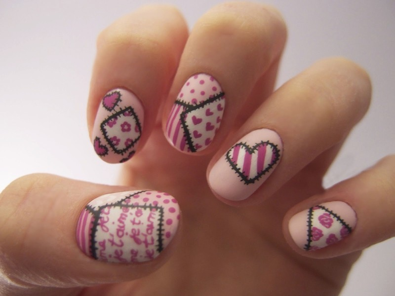 Valentines-Day-Nails-2017-103 50+ Lovely Valentine's Day Nail Art Ideas 2018