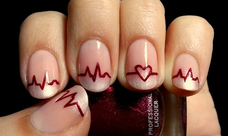 Valentines-Day-Nails-2017-104 50+ Lovely Valentine's Day Nail Art Ideas 2018