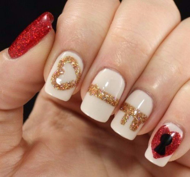 Valentines-Day-Nails-2017-106 50+ Lovely Valentine's Day Nail Art Ideas 2018