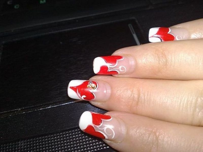 Valentines-Day-Nails-2017-108 50+ Lovely Valentine's Day Nail Art Ideas 2018
