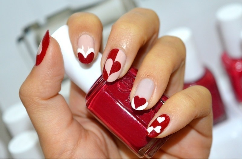 Valentines-Day-Nails-2017-110 50+ Lovely Valentine's Day Nail Art Ideas 2018