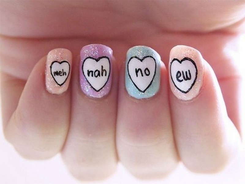 Valentines-Day-Nails-2017-111 50+ Lovely Valentine's Day Nail Art Ideas 2017