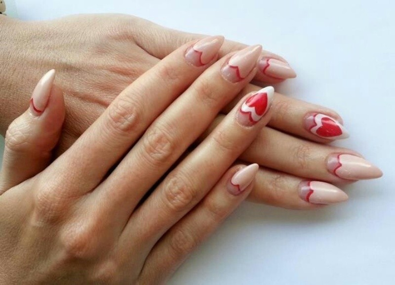 Valentines-Day-Nails-2017-114 50+ Lovely Valentine's Day Nail Art Ideas 2020