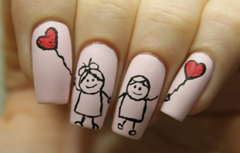 Valentines-Day-Nails-2017-115 50+ Lovely Valentine's Day Nail Art Ideas 2018
