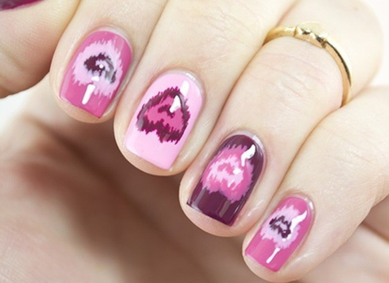 Valentines-Day-Nails-2017-119 50+ Lovely Valentine's Day Nail Art Ideas 2017
