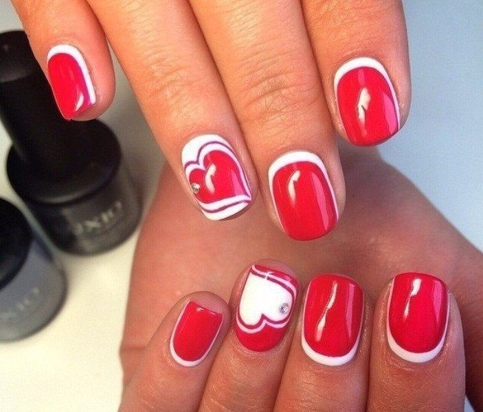 Valentines-Day-Nails-2017-121 50+ Lovely Valentine's Day Nail Art Ideas 2018