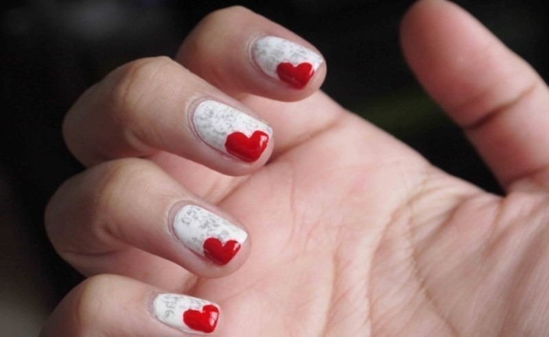 Valentines-Day-Nails-2017-122 50+ Lovely Valentine's Day Nail Art Ideas 2018