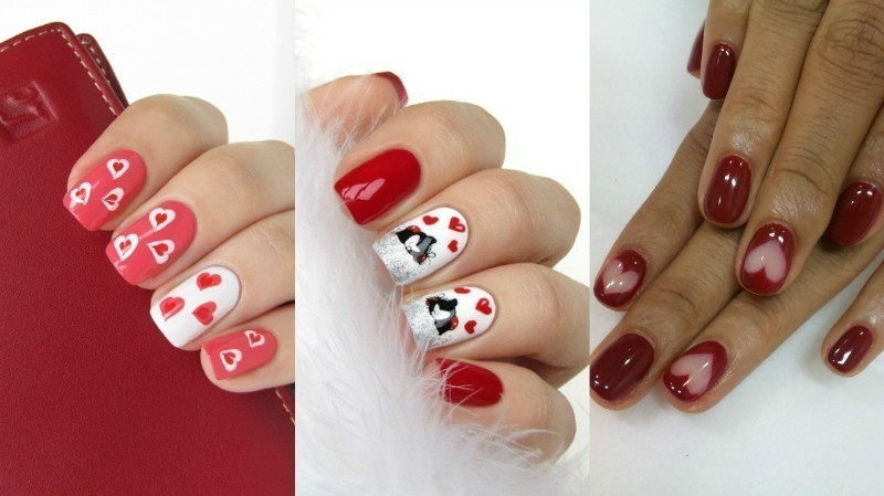 Valentines-Day-Nails-2017-124 50+ Lovely Valentine's Day Nail Art Ideas 2018
