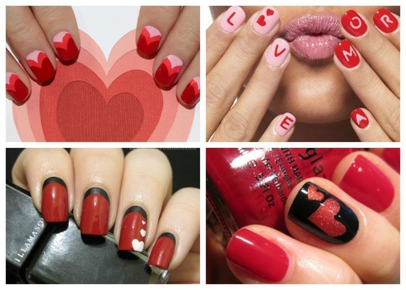 Valentines-Day-Nails-2017-125 50+ Lovely Valentine's Day Nail Art Ideas 2018