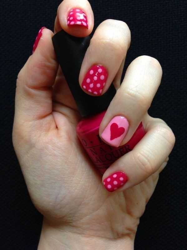 Valentines-Day-Nails-2017-15 50+ Lovely Valentine's Day Nail Art Ideas 2018