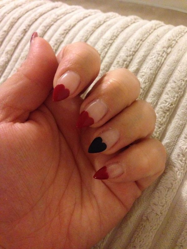 Valentines-Day-Nails-2017-18 50+ Lovely Valentine's Day Nail Art Ideas 2020