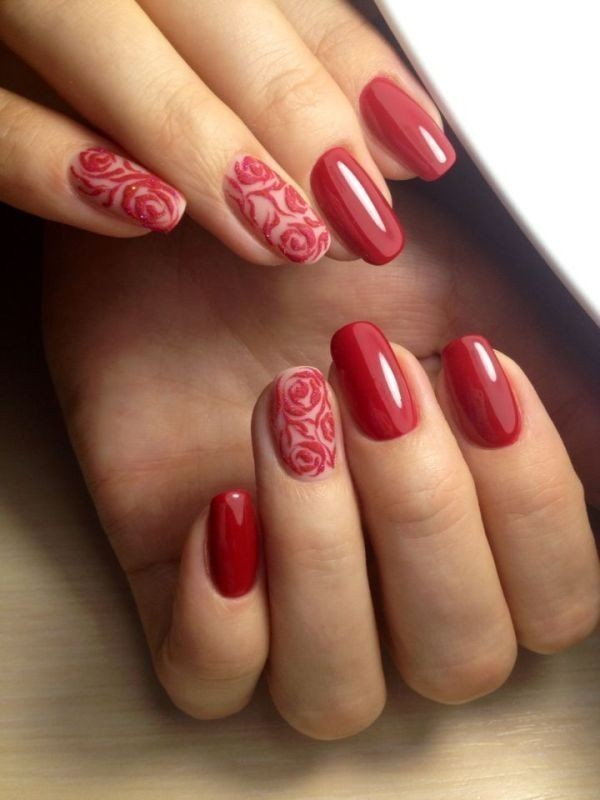 Valentines-Day-Nails-2017-19 50+ Lovely Valentine's Day Nail Art Ideas 2020
