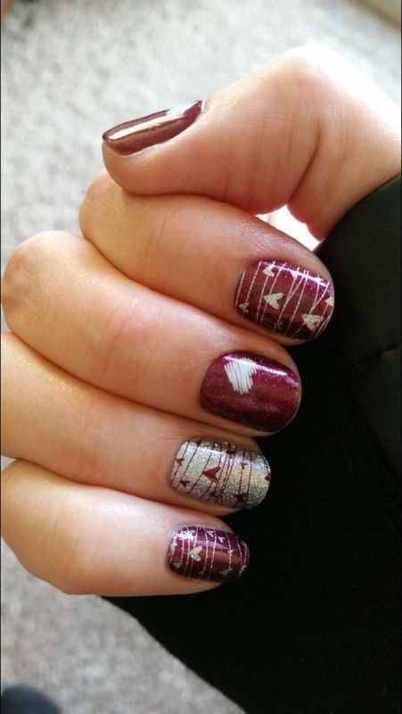 Valentines-Day-Nails-2017-2 50+ Lovely Valentine's Day Nail Art Ideas 2020