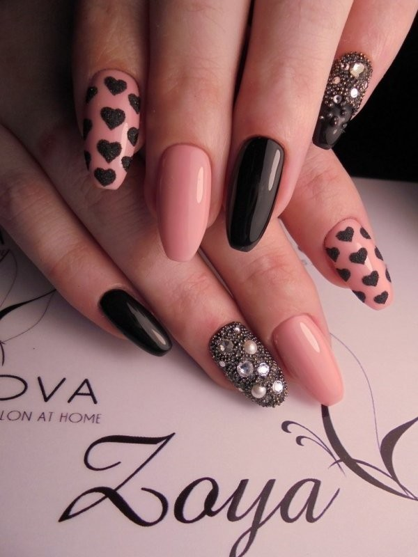 Valentines-Day-Nails-2017-21 50+ Lovely Valentine's Day Nail Art Ideas 2020
