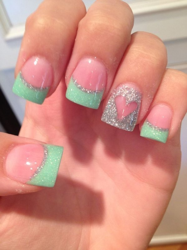 Valentines-Day-Nails-2017-22 50+ Lovely Valentine's Day Nail Art Ideas 2020