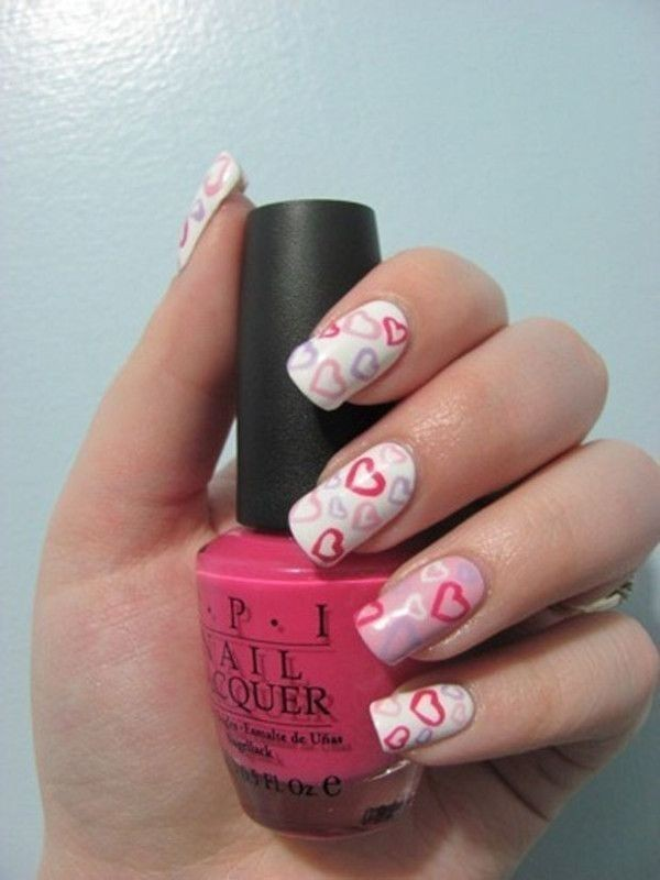 Valentines-Day-Nails-2017-24 50+ Lovely Valentine's Day Nail Art Ideas 2020