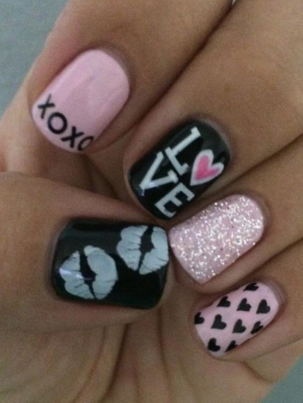 Valentines-Day-Nails-2017-25 50+ Lovely Valentine's Day Nail Art Ideas 2020
