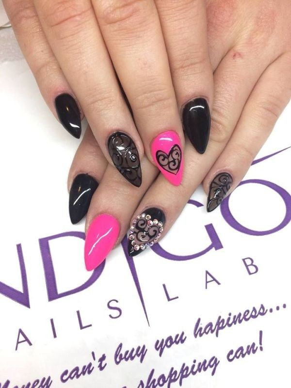 Valentines-Day-Nails-2017-27 50+ Lovely Valentine's Day Nail Art Ideas 2020