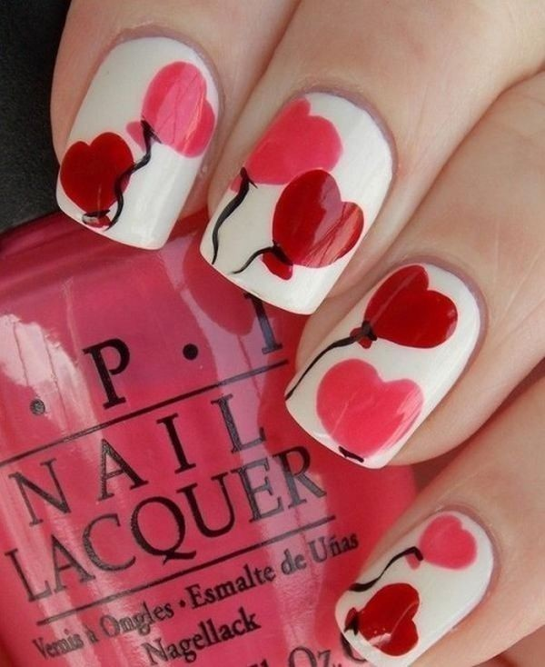 Valentines-Day-Nails-2017-28 50+ Lovely Valentine's Day Nail Art Ideas 2018
