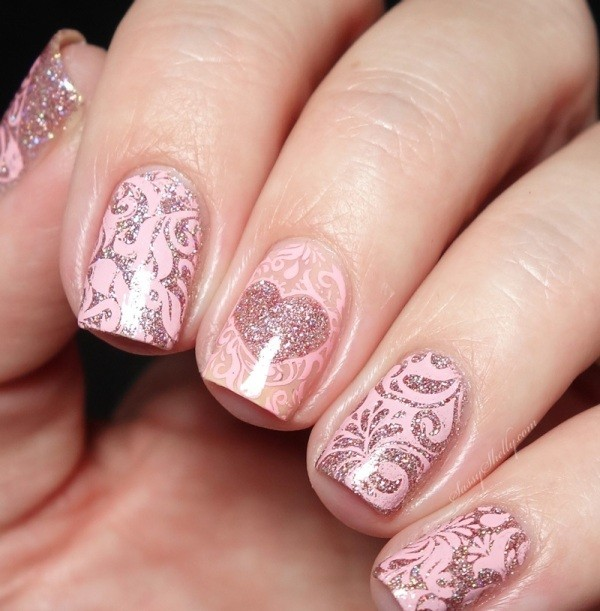Valentines-Day-Nails-2017-31 50+ Lovely Valentine's Day Nail Art Ideas 2020