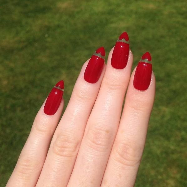 Valentines-Day-Nails-2017-32 50+ Lovely Valentine's Day Nail Art Ideas 2020