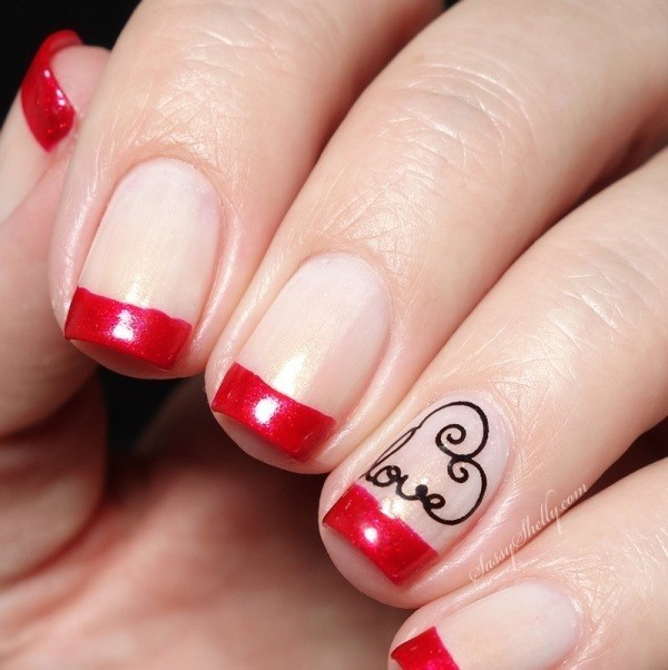 Valentines-Day-Nails-2017-33 50+ Lovely Valentine's Day Nail Art Ideas 2020