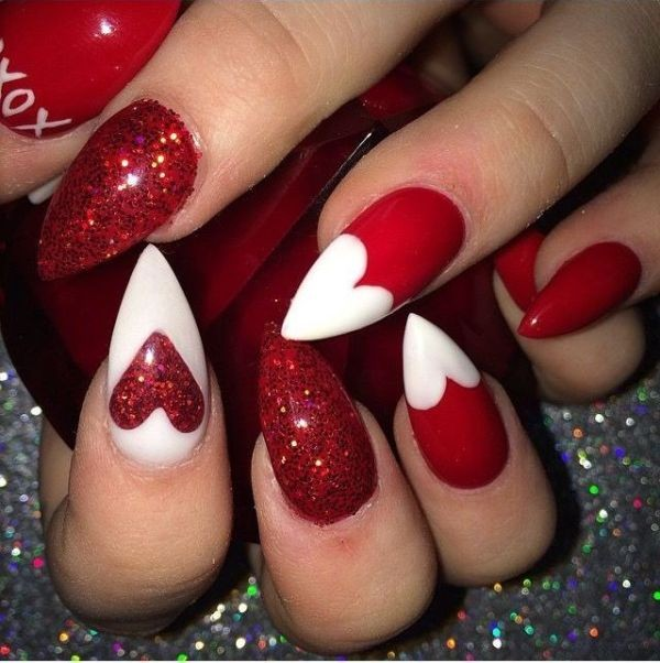 Valentines-Day-Nails-2017-34 50+ Lovely Valentine's Day Nail Art Ideas 2020