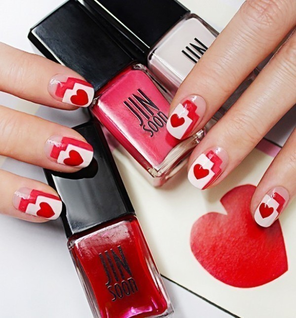 Valentines-Day-Nails-2017-35 50+ Lovely Valentine's Day Nail Art Ideas 2020