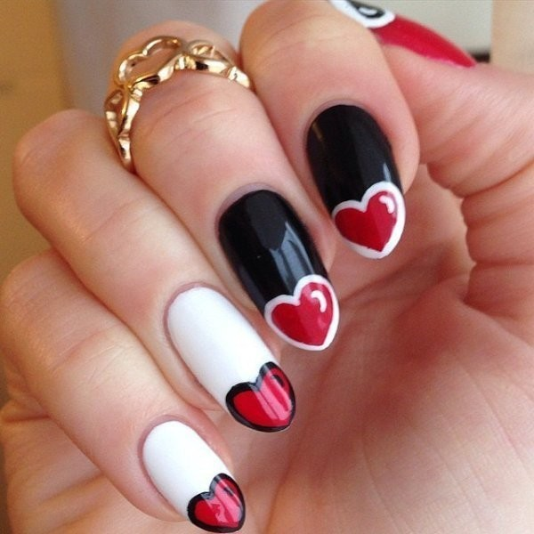 Valentines-Day-Nails-2017-36 50+ Lovely Valentine's Day Nail Art Ideas 2020