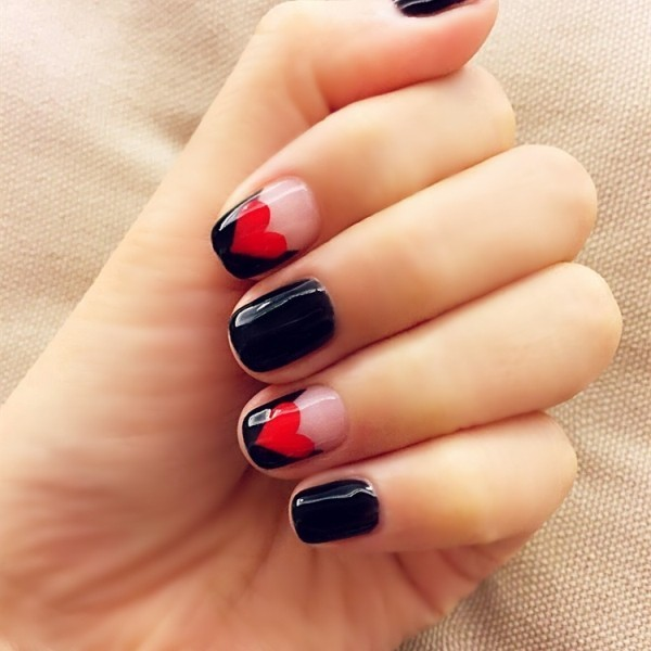 Valentines-Day-Nails-2017-37 50+ Lovely Valentine's Day Nail Art Ideas 2020