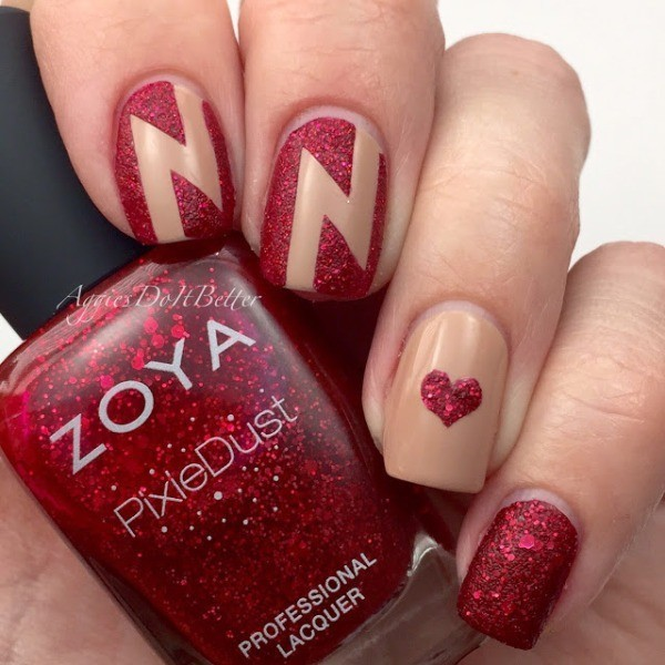 Valentines-Day-Nails-2017-38 50+ Lovely Valentine's Day Nail Art Ideas 2017