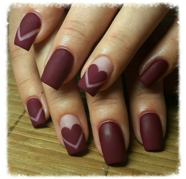 Valentines-Day-Nails-2017-39 50+ Lovely Valentine's Day Nail Art Ideas 2018