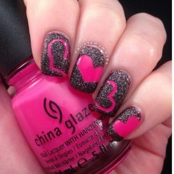 Valentines-Day-Nails-2017-40 50+ Lovely Valentine's Day Nail Art Ideas 2020