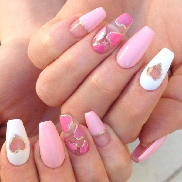 Valentines-Day-Nails-2017-41 50+ Lovely Valentine's Day Nail Art Ideas 2018