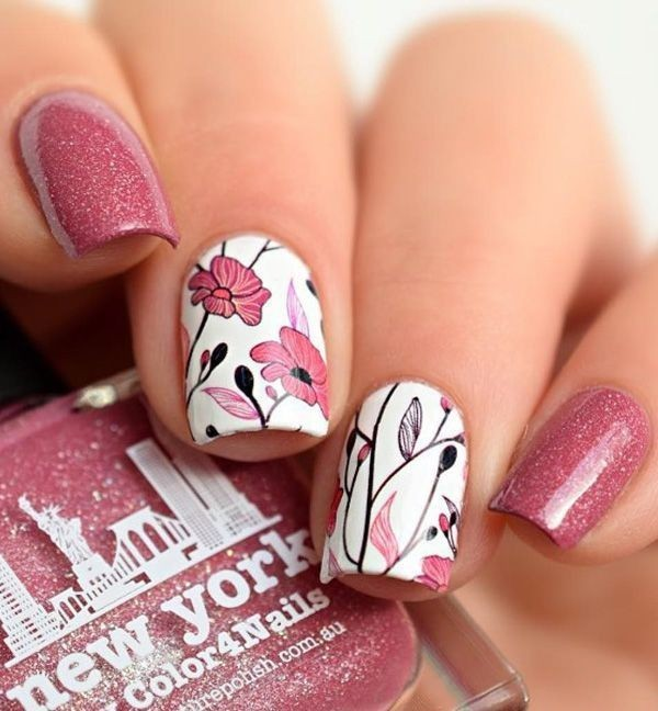 Valentines-Day-Nails-2017-44 50+ Lovely Valentine's Day Nail Art Ideas 2020