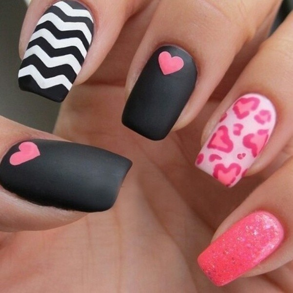 Valentines-Day-Nails-2017-47 50+ Lovely Valentine's Day Nail Art Ideas 2018
