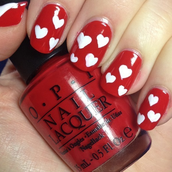 Valentines-Day-Nails-2017-49 50+ Lovely Valentine's Day Nail Art Ideas 2018