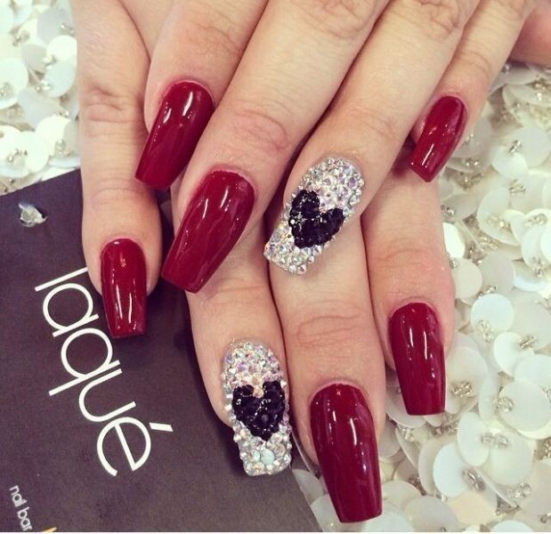 Valentines-Day-Nails-2017-50 50+ Lovely Valentine's Day Nail Art Ideas 2020