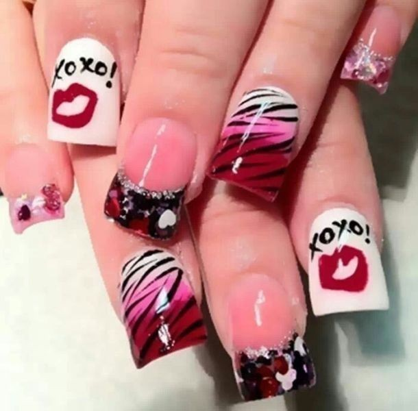 Valentines-Day-Nails-2017-51 50+ Lovely Valentine's Day Nail Art Ideas 2020