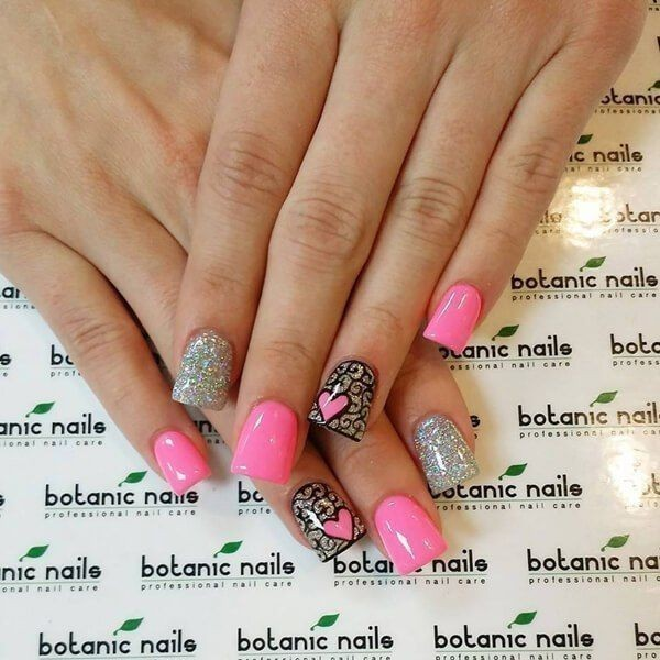 Valentines-Day-Nails-2017-53 50+ Lovely Valentine's Day Nail Art Ideas 2018