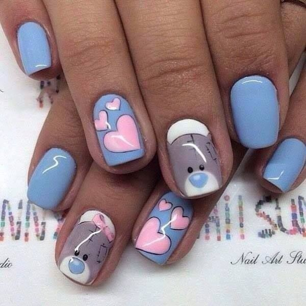 Valentines-Day-Nails-2017-56 50+ Lovely Valentine's Day Nail Art Ideas 2018