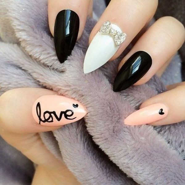 Valentines-Day-Nails-2017-57 50+ Lovely Valentine's Day Nail Art Ideas 2018