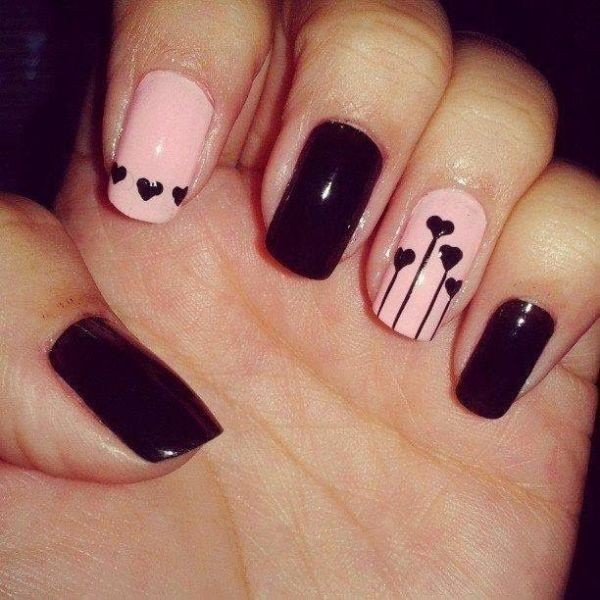 Valentines-Day-Nails-2017-58 50+ Lovely Valentine's Day Nail Art Ideas 2020