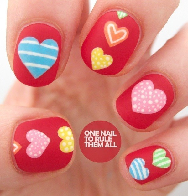 Valentines-Day-Nails-2017-59 50+ Lovely Valentine's Day Nail Art Ideas 2018