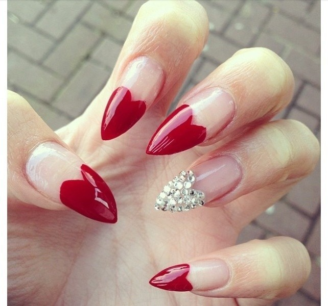 Valentines-Day-Nails-2017-60 50+ Lovely Valentine's Day Nail Art Ideas 2020