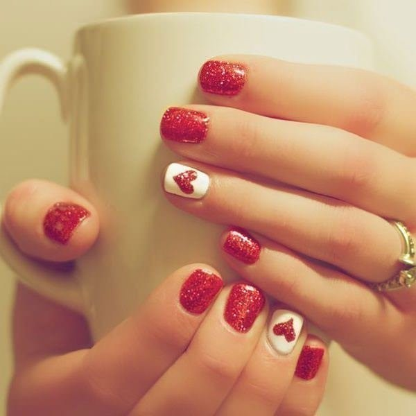 Valentines-Day-Nails-2017-62 50+ Lovely Valentine's Day Nail Art Ideas 2020