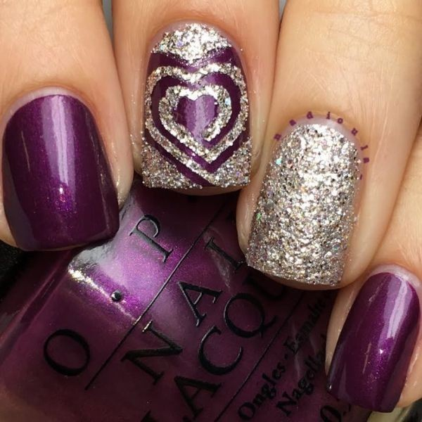 Valentines-Day-Nails-2017-63 50+ Lovely Valentine's Day Nail Art Ideas 2018